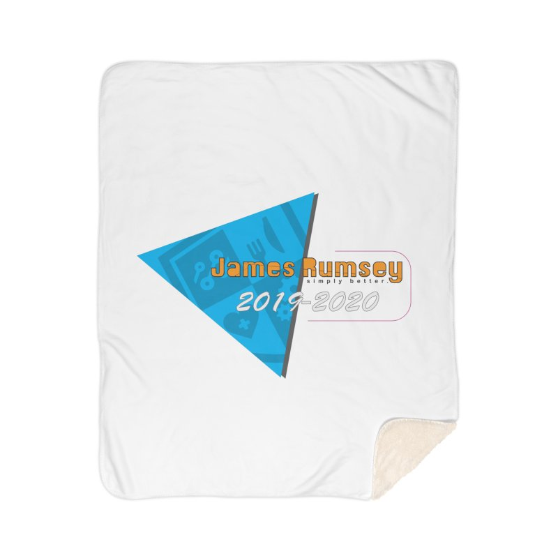Retro Design With Shield Home Sherpa Blanket Blanket by James Rumsey Technical Institute