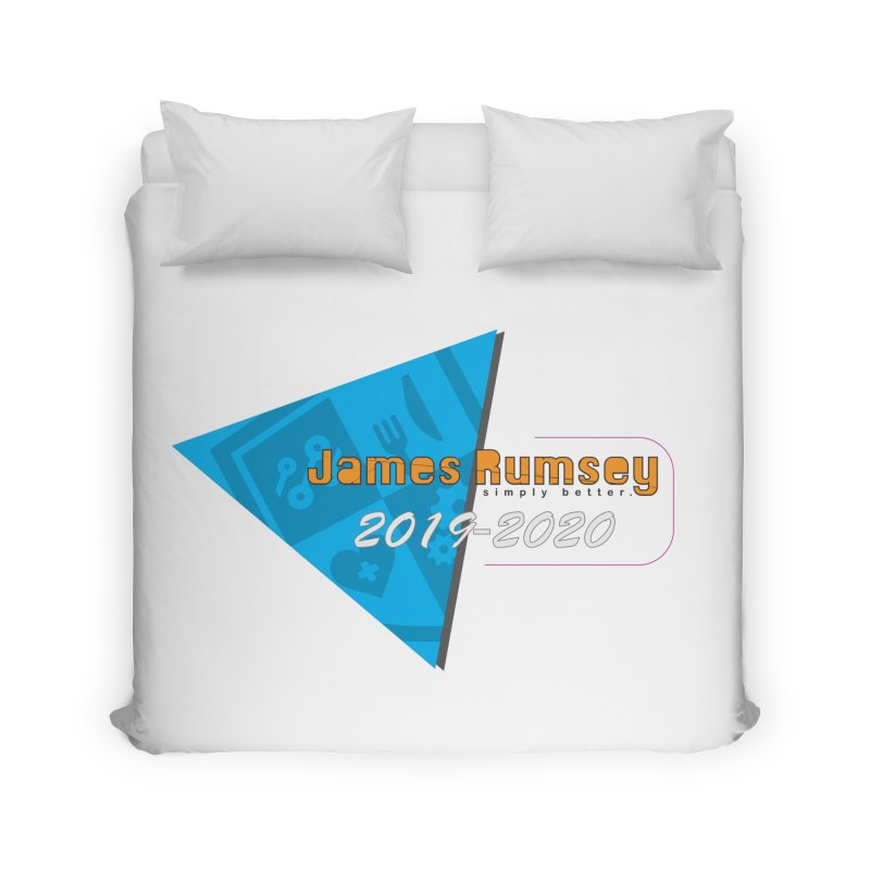 Retro Design With Shield Home Duvet by James Rumsey Technical Institute