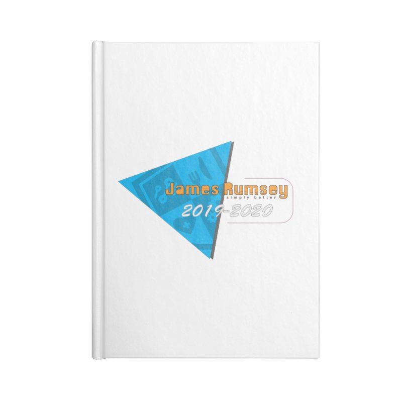 Retro Design With Shield Accessories Lined Journal Notebook by James Rumsey Technical Institute