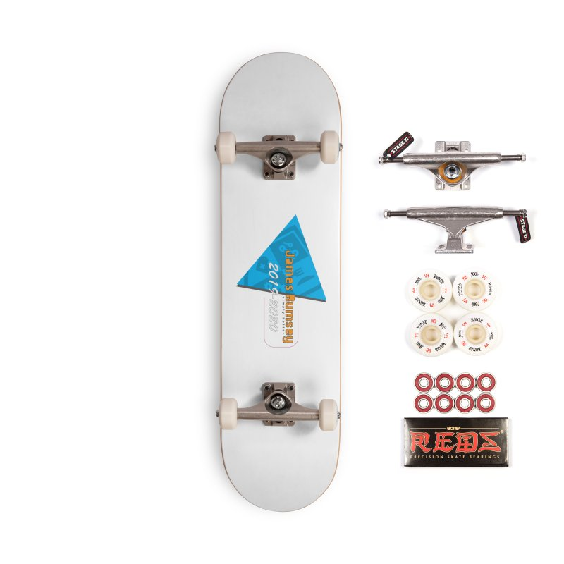 Retro Design With Shield Accessories Complete - Pro Skateboard by James Rumsey Technical Institute