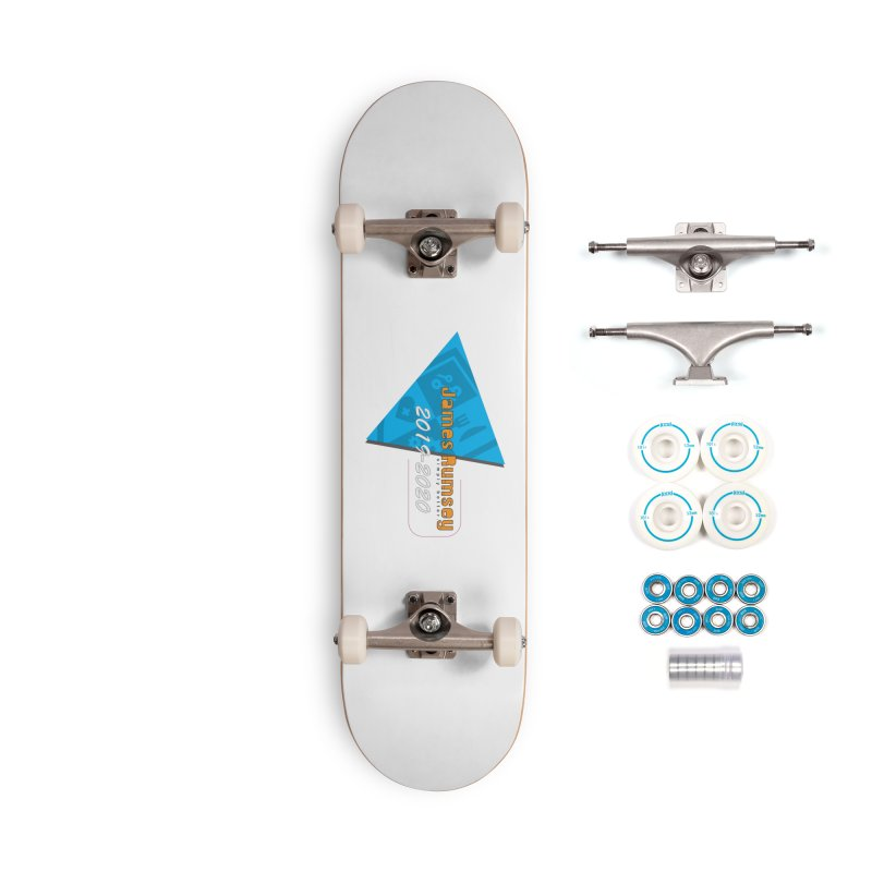 Retro Design With Shield Accessories Complete - Basic Skateboard by James Rumsey Technical Institute