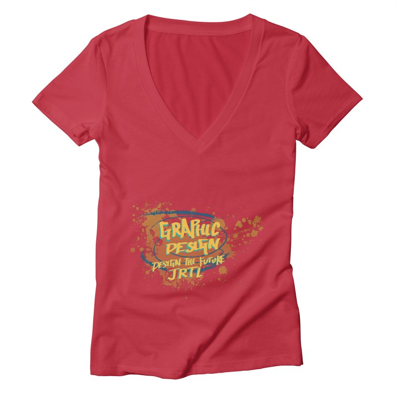 Graphic Design Women's Deep V-Neck V-Neck by James Rumsey Technical Institute