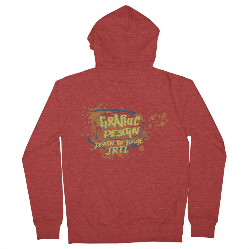 Graphic Design Women's French Terry Zip-Up Hoody by James Rumsey Technical Institute