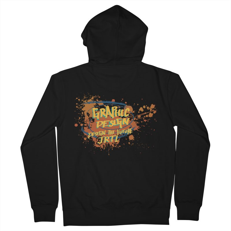 Graphic Design Men's French Terry Zip-Up Hoody by James Rumsey Technical Institute