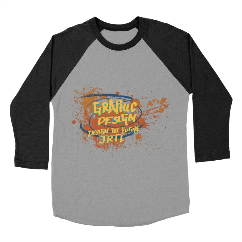 Graphic Design Men's Baseball Triblend Longsleeve T-Shirt by James Rumsey Technical Institute