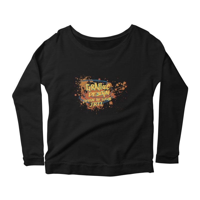 Graphic Design Women's Scoop Neck Longsleeve T-Shirt by James Rumsey Technical Institute