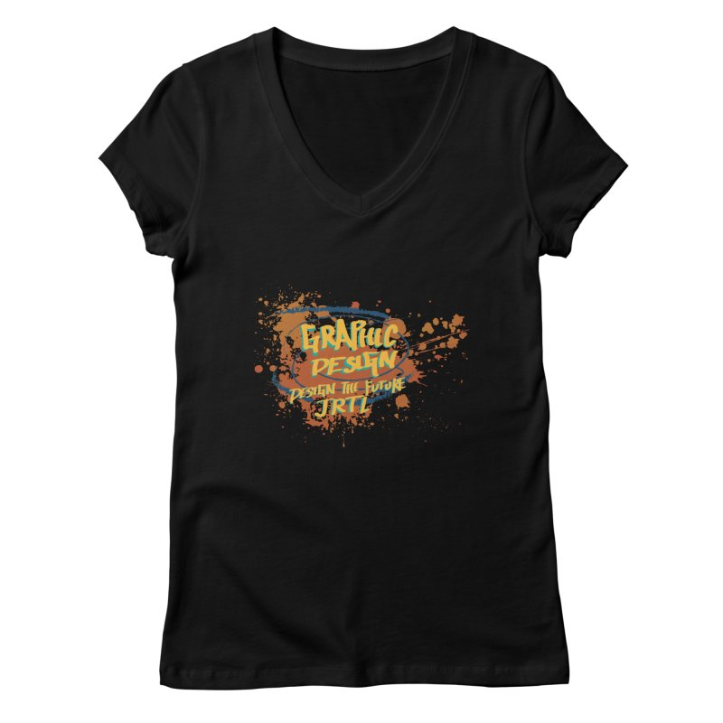 Graphic Design Women's V-Neck by James Rumsey Technical Institute