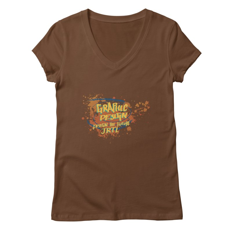 Graphic Design Women's Regular V-Neck by James Rumsey Technical Institute