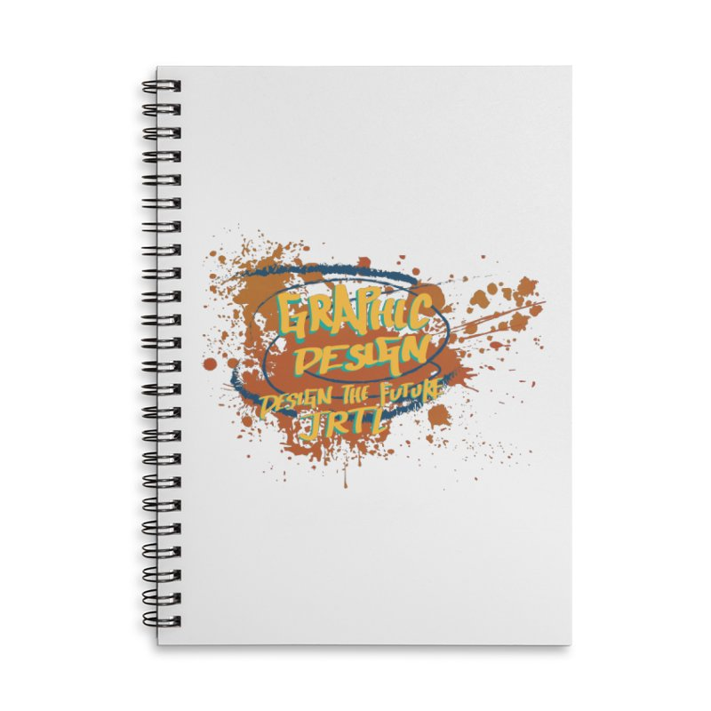 Graphic Design Accessories Lined Spiral Notebook by James Rumsey Technical Institute