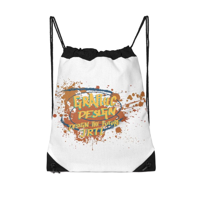 Graphic Design Accessories Drawstring Bag Bag by James Rumsey Technical Institute