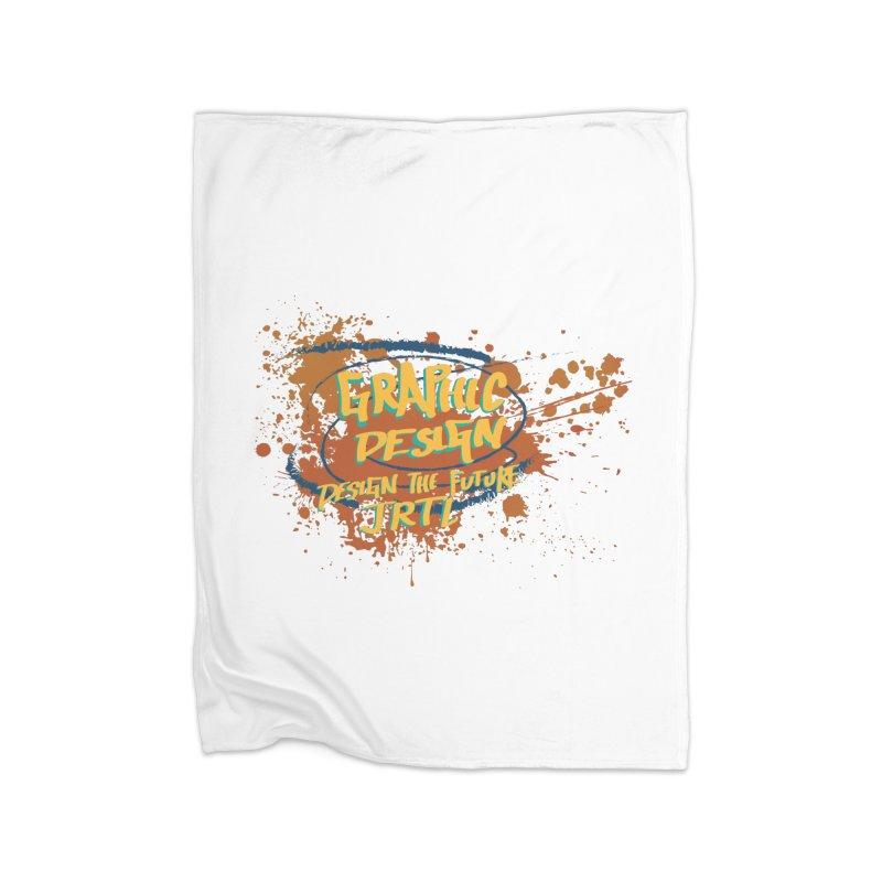 Graphic Design Home Fleece Blanket Blanket by James Rumsey Technical Institute