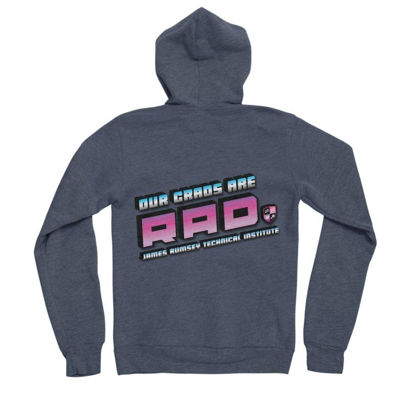Our Grads Are RAD Men's Sponge Fleece Zip-Up Hoody by James Rumsey Technical Institute