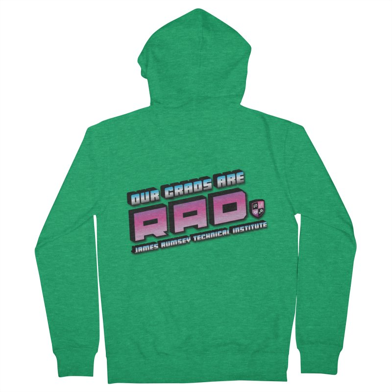 Our Grads Are RAD Men's French Terry Zip-Up Hoody by James Rumsey Technical Institute