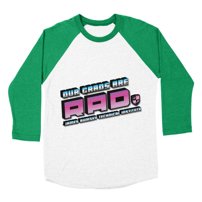 Our Grads Are RAD Women's Baseball Triblend Longsleeve T-Shirt by James Rumsey Technical Institute