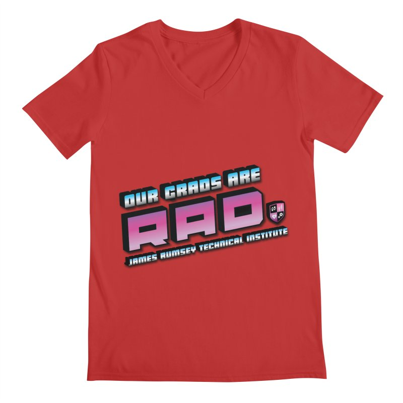 Our Grads Are RAD Men's Regular V-Neck by James Rumsey Technical Institute