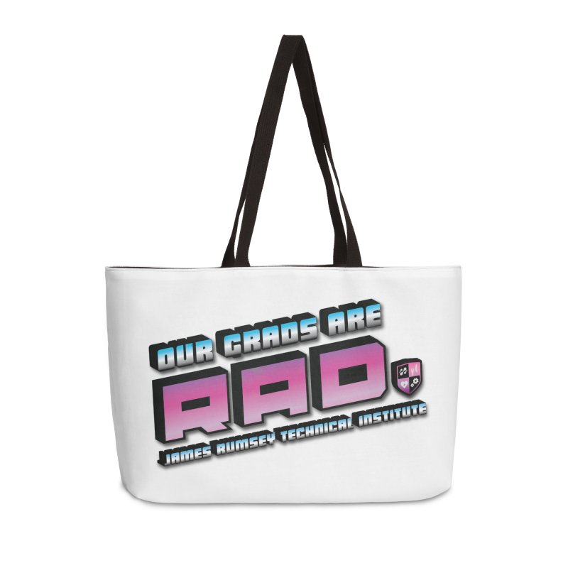 Our Grads Are RAD Accessories Weekender Bag Bag by James Rumsey Technical Institute