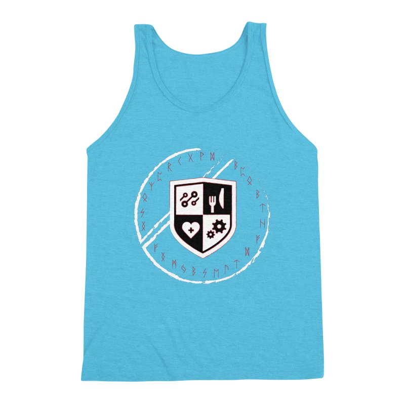 Runes Men's Triblend Tank by James Rumsey Technical Institute