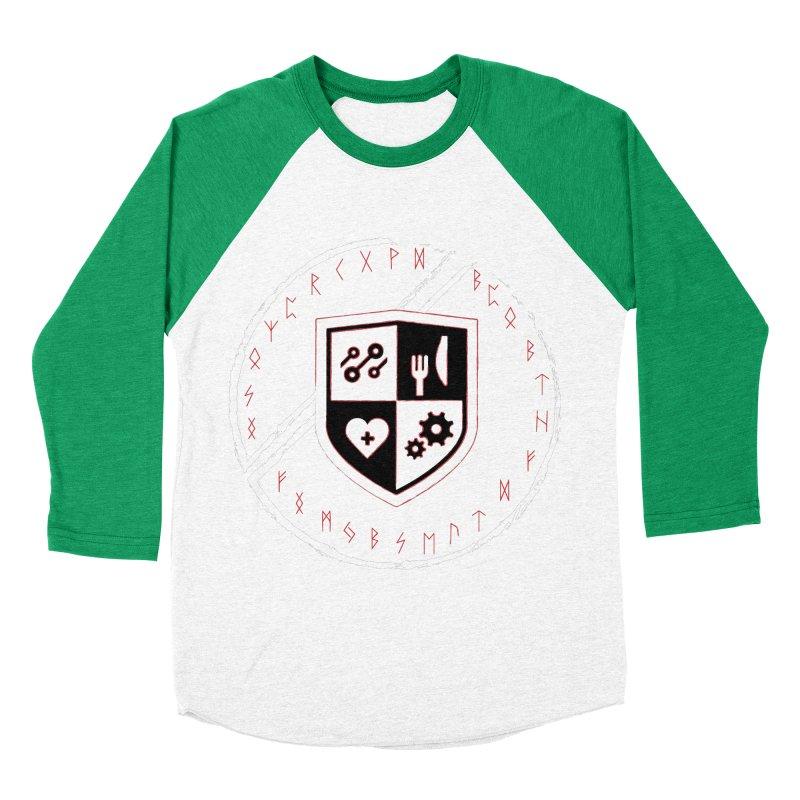 Runes Men's Baseball Triblend Longsleeve T-Shirt by James Rumsey Technical Institute