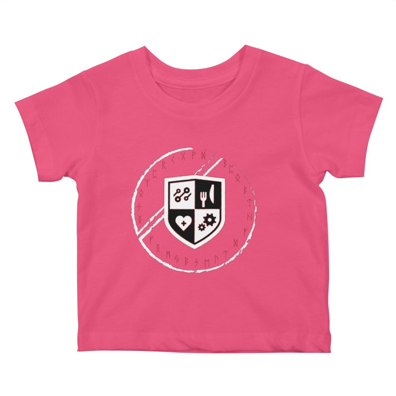 Runes Kids Baby T-Shirt by James Rumsey Technical Institute