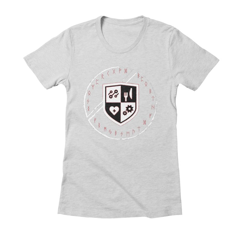 Runes Women's Fitted T-Shirt by James Rumsey Technical Institute
