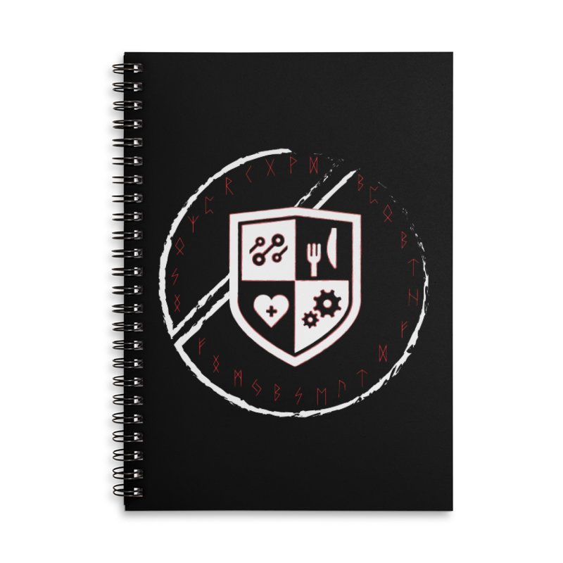 Runes Accessories Lined Spiral Notebook by James Rumsey Technical Institute
