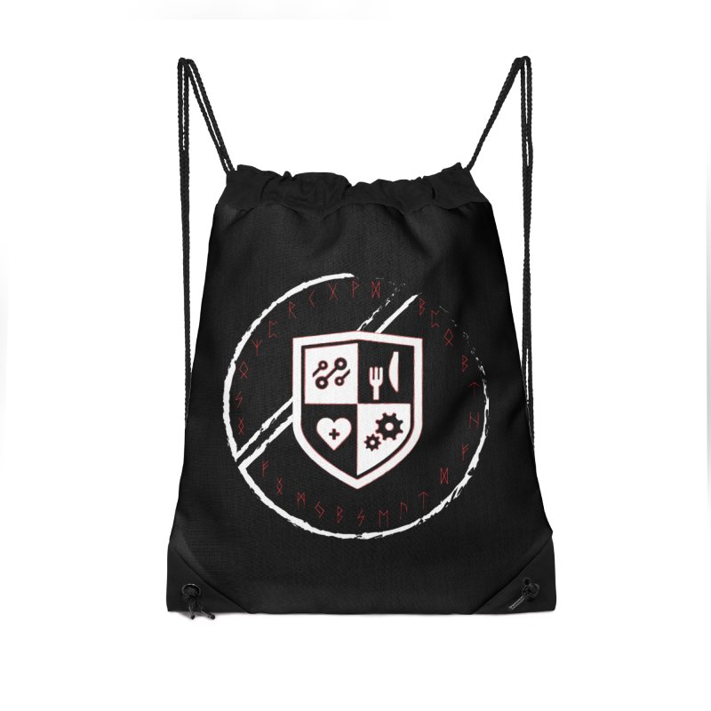 Runes Accessories Drawstring Bag Bag by James Rumsey Technical Institute