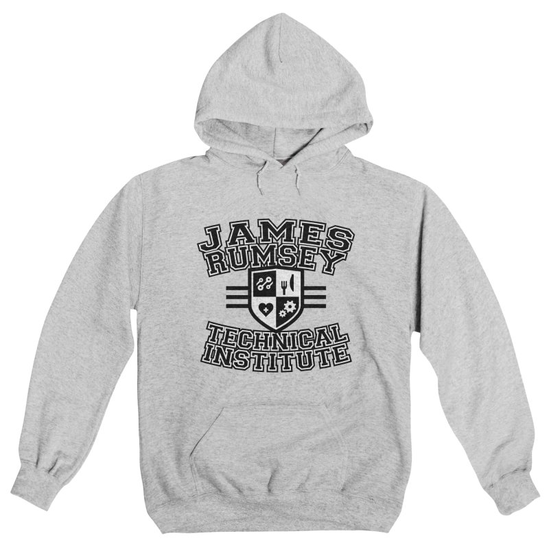 Black & White Men's Pullover Hoody by James Rumsey Technical Institute