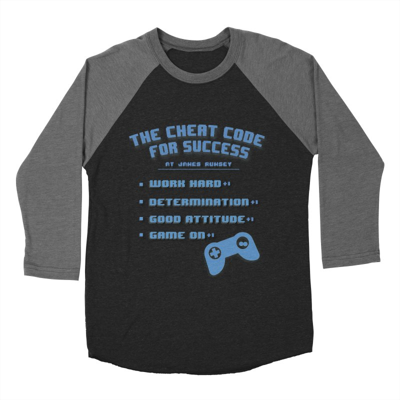 Cheat Code for Success Women's Baseball Triblend Longsleeve T-Shirt by James Rumsey Technical Institute