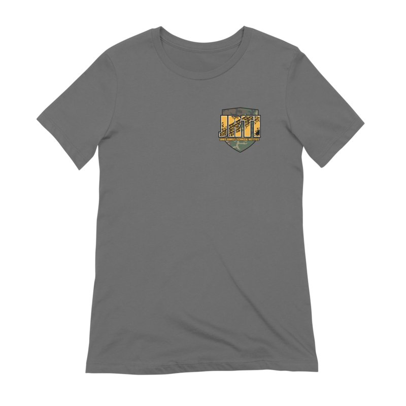 Camo JRTI Small Women's Extra Soft T-Shirt by James Rumsey Technical Institute