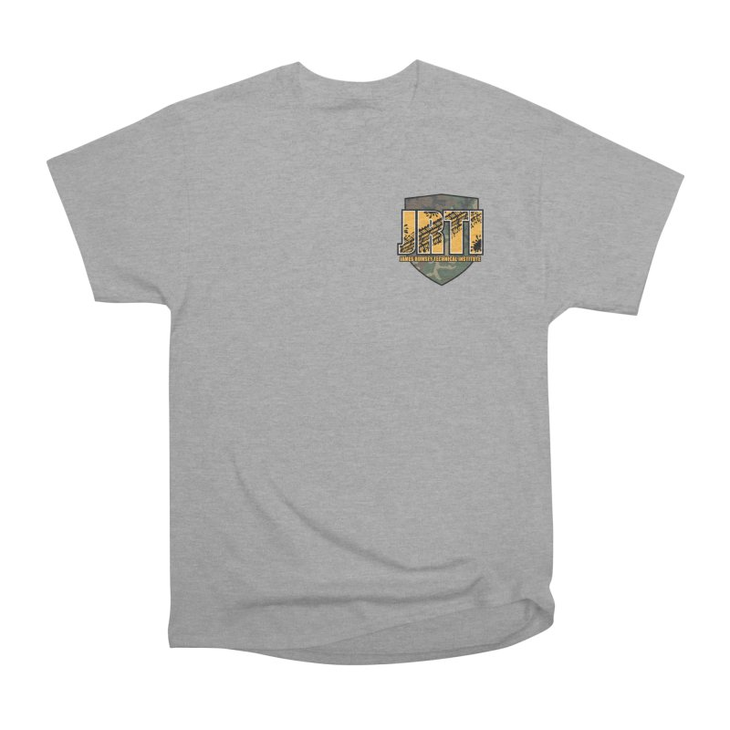 Camo JRTI Small Men's Heavyweight T-Shirt by James Rumsey Technical Institute