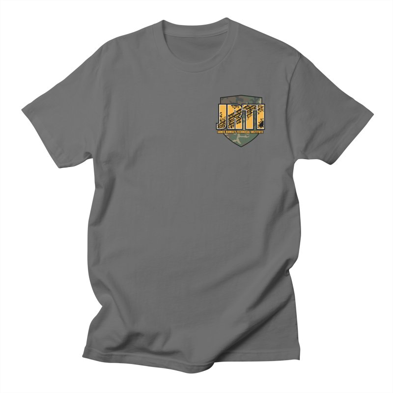 Camo JRTI Small Women's T-Shirt by James Rumsey Technical Institute