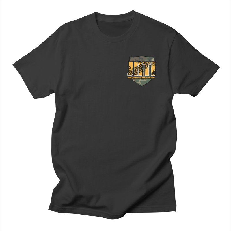Camo JRTI Small Women's Regular Unisex T-Shirt by James Rumsey Technical Institute