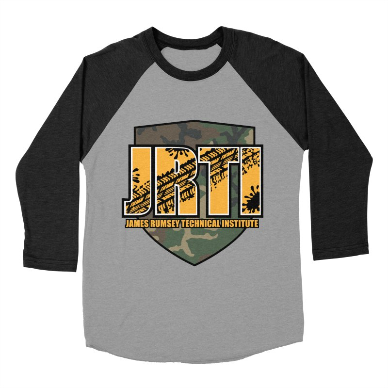 Camo Shield Men's Baseball Triblend Longsleeve T-Shirt by James Rumsey Technical Institute