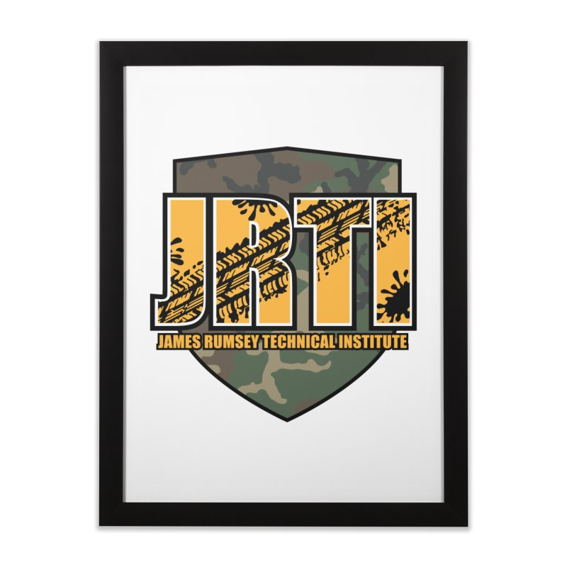 Camo Shield Home Framed Fine Art Print by James Rumsey Technical Institute