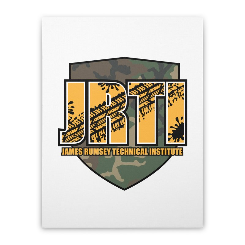 Camo Shield Home Stretched Canvas by James Rumsey Technical Institute