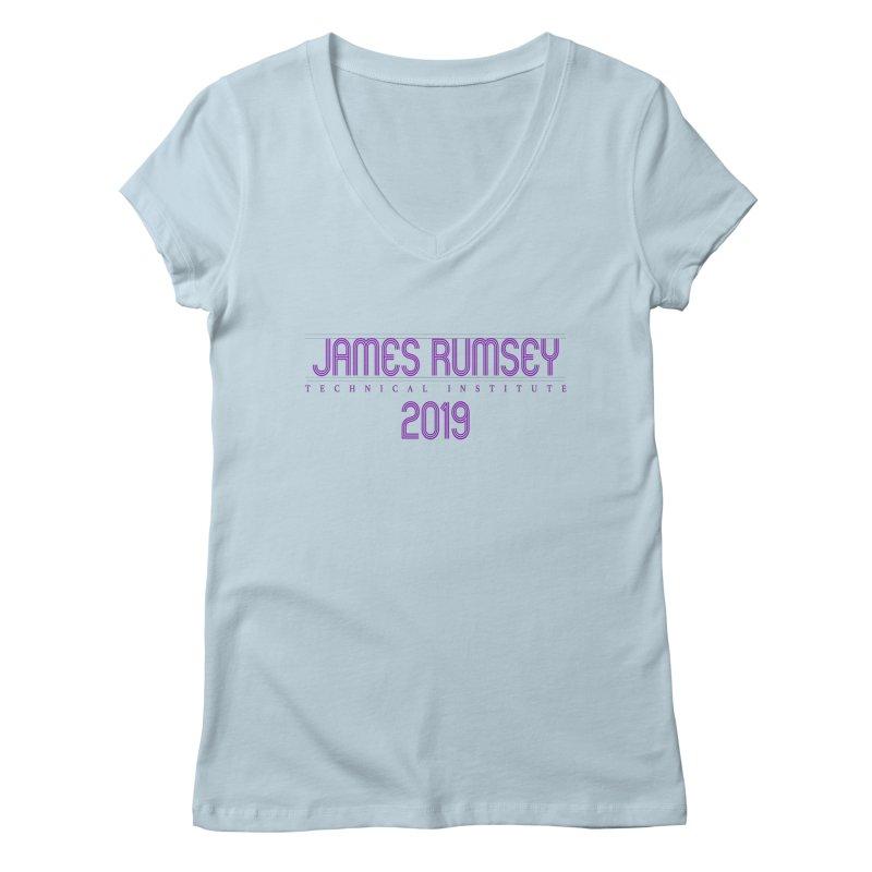 JRTI Retro Women's Regular V-Neck by James Rumsey Technical Institute
