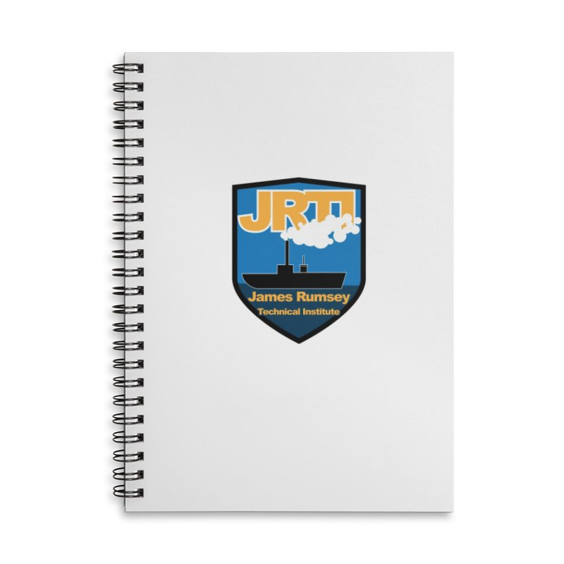Shield & Boat Accessories Lined Spiral Notebook by James Rumsey Technical Institute