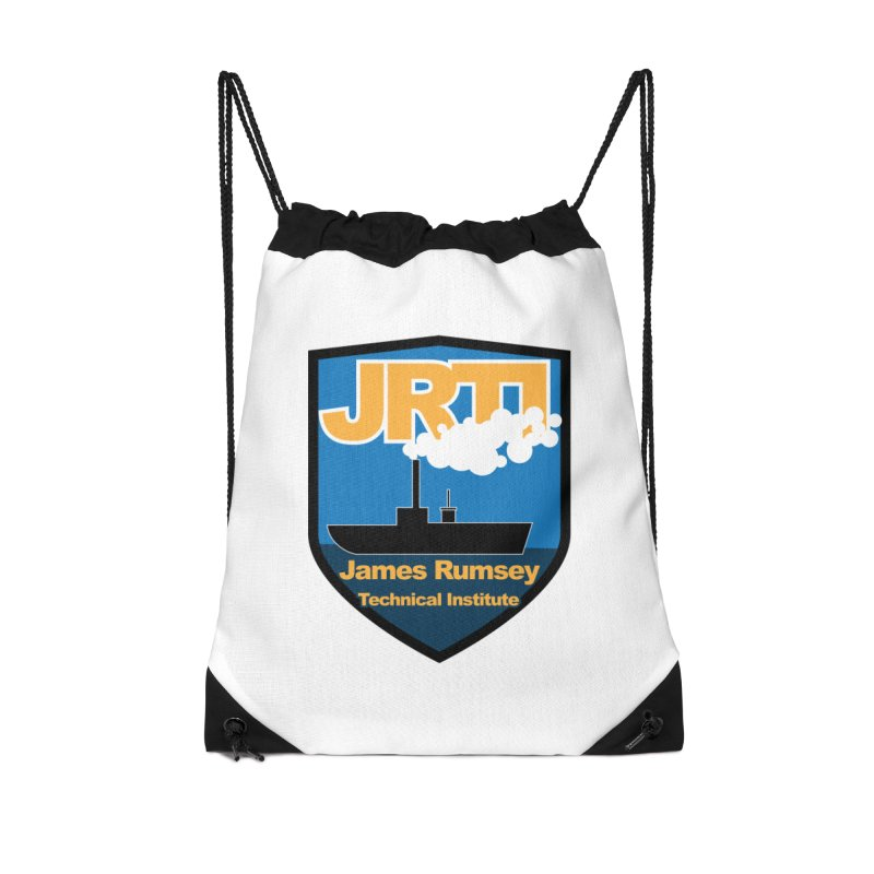 Shield & Boat Accessories Drawstring Bag Bag by James Rumsey Technical Institute