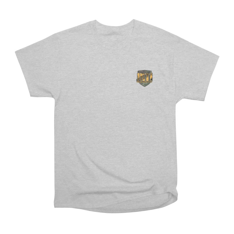 Camo Shield - small Men's Heavyweight T-Shirt by James Rumsey Technical Institute