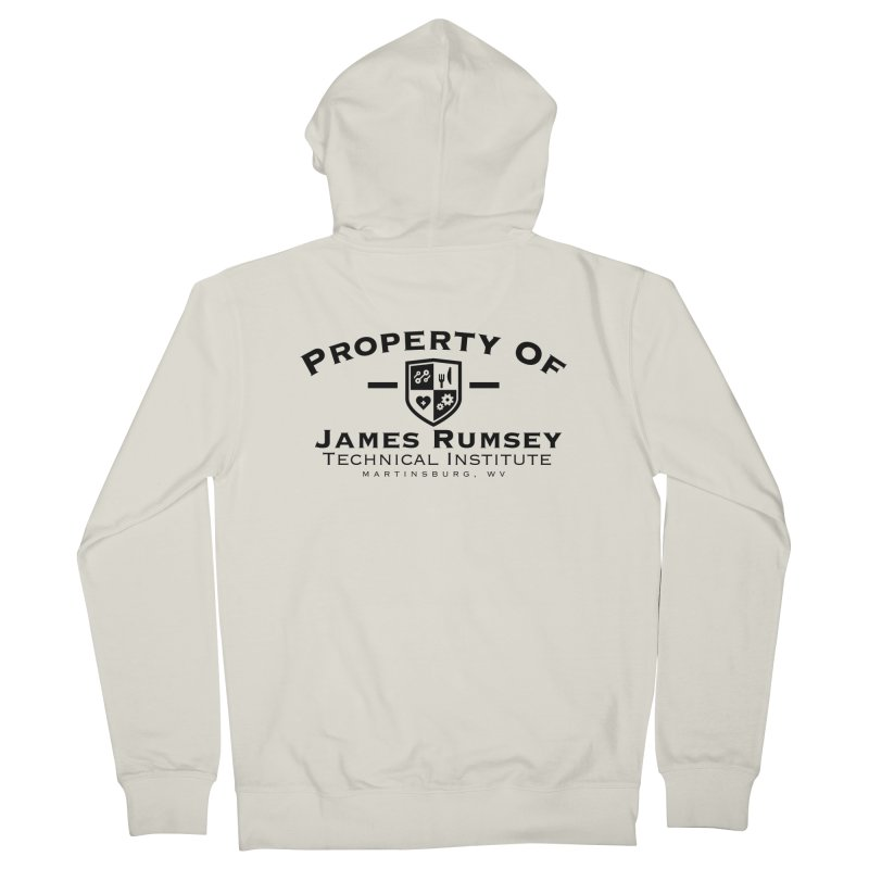 Property of James Rumsey Men's French Terry Zip-Up Hoody by James Rumsey Technical Institute