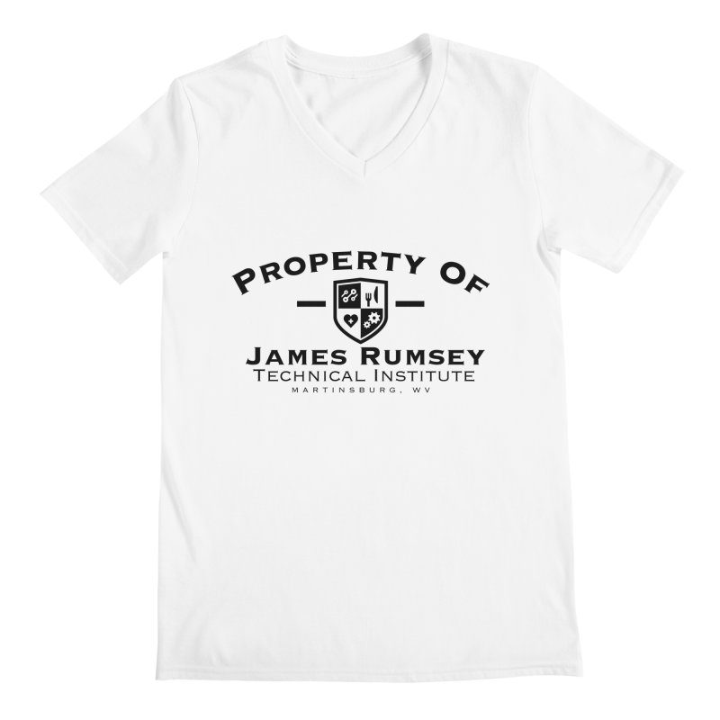 Property of James Rumsey Men's Regular V-Neck by James Rumsey Technical Institute