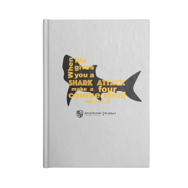 Shark Attack - ProStart Accessories Blank Journal Notebook by James Rumsey Technical Institute