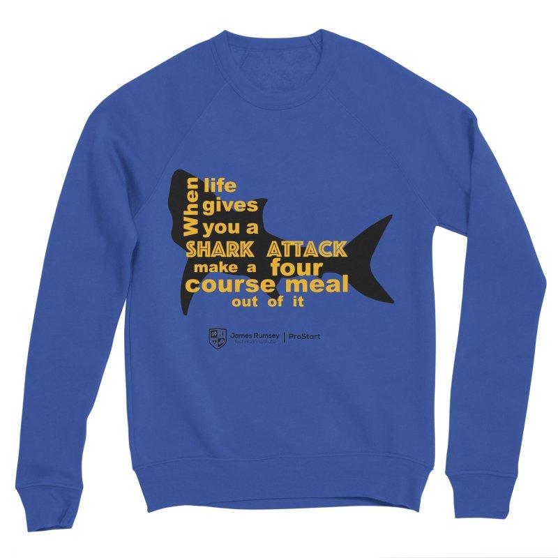 Shark Attack - ProStart Men's Sweatshirt by James Rumsey Technical Institute