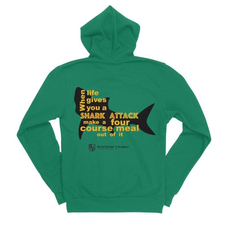 Shark Attack - ProStart Men's Sponge Fleece Zip-Up Hoody by James Rumsey Technical Institute