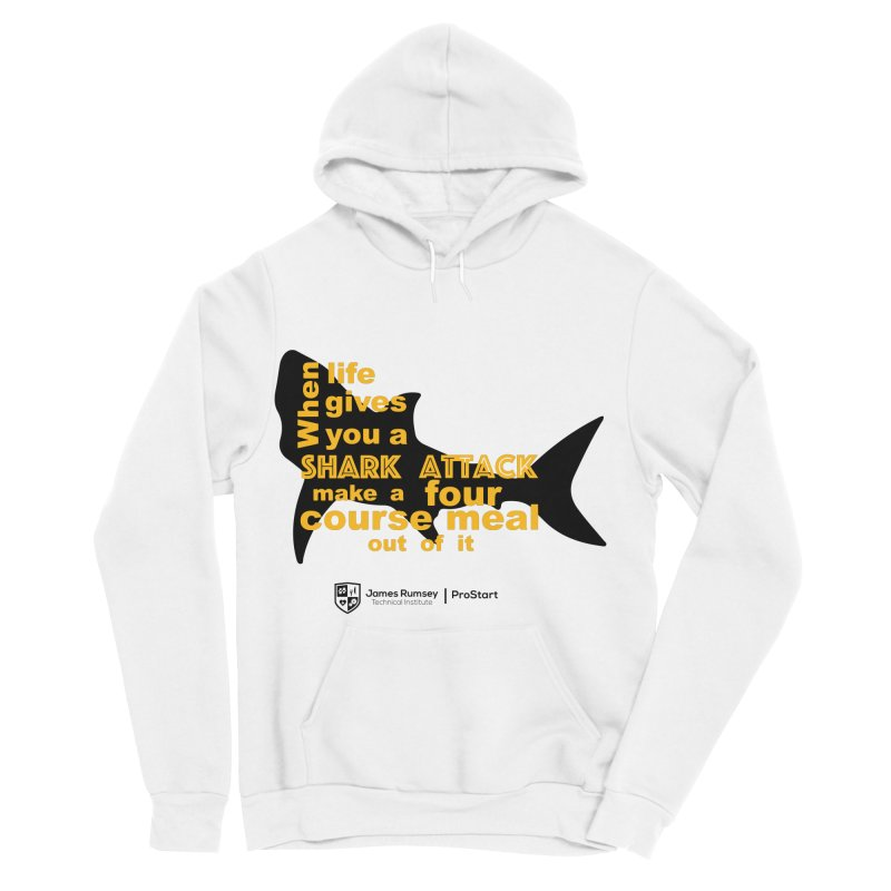 Shark Attack - ProStart Men's Sponge Fleece Pullover Hoody by James Rumsey Technical Institute