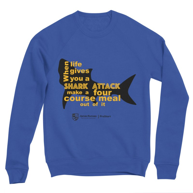 Shark Attack - ProStart Men's Sponge Fleece Sweatshirt by James Rumsey Technical Institute
