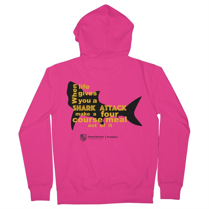 Shark Attack - ProStart Men's French Terry Zip-Up Hoody by James Rumsey Technical Institute