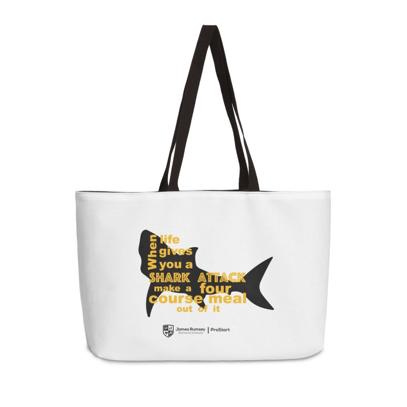 Shark Attack - ProStart Accessories Weekender Bag Bag by James Rumsey Technical Institute
