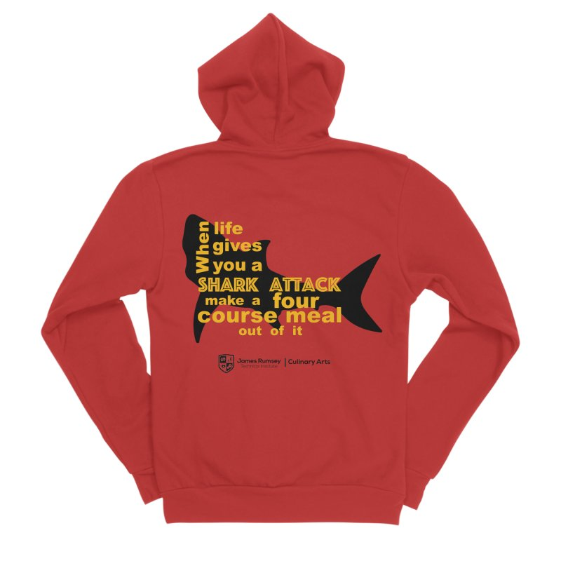 Shark Attack - Culinary Arts Men's Zip-Up Hoody by James Rumsey Technical Institute