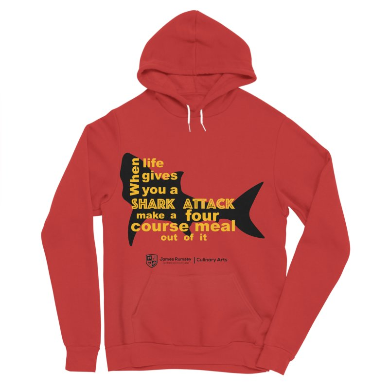 Shark Attack - Culinary Arts Men's Sponge Fleece Pullover Hoody by James Rumsey Technical Institute